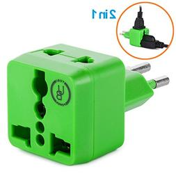 Yubi Power 2 in 1 Travel Adapter with 2 Universal Outlets -