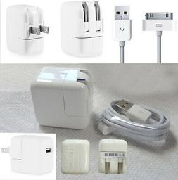 10W Wall Charger Power Adapter & 30-Pin USB Data Cable For A