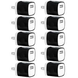 10x 1A USB Wall Charger AC Power Adapter US Outlet FOR iPhon
