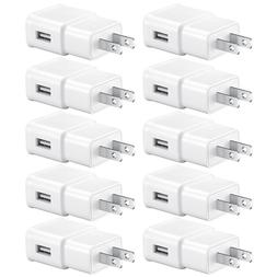 10x Samsung Galaxy S6 S7 S8 Note 4 5 USB Wall Charger Home P