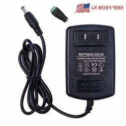 12V 2A 24W Power Supply AC to DC 100-240V Adapter Plug for 3