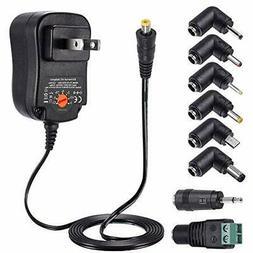ZOZO 12W Universal AC Adapter Switching Power Supply 3V 4.5V