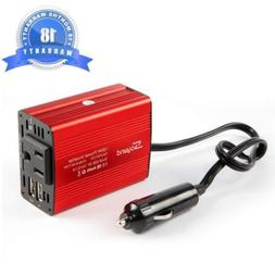 150W Power Inverter DC 12V to 110V Car AC Adapter with 3.1A