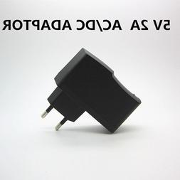 1PC AC 100-240V DC 5V 2A 2000MA EU Plug LED Light USB <font>
