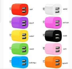 2.1A/1A Dual 2 Port USB Portable Travel AC Plug Wall Power A