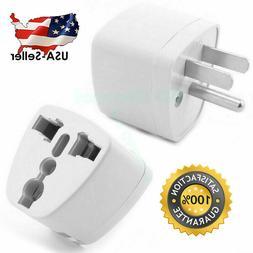 2 Pcs Universal EU UK AU to US USA AC Travel Power Plug in A