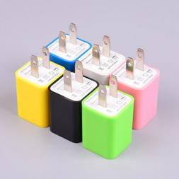 2-Port USB OUTPUT Wall Charger US Plug Travel Power Adapter