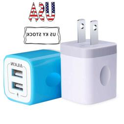 Ailkin 2 X Universal Fast USB Wall Charger Power Adapter Dua
