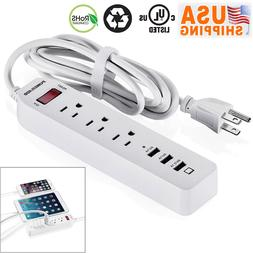 2019 Poweradd 6FT 5 Outlet Power Strip Surge Protector With