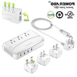 Poweradd 220V to 110V  UK/US/AU Travel Voltage Converter Ada