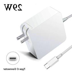 29W USB C Power Adapter Charger for Apple 2015 MacBook MJ262