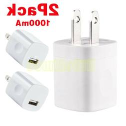 2x 5W USB Wall Charger Power Adapter For Apple iPhone iPads
