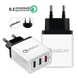 3-Port Fast Quick Charge QC 3.0 USB Hub Wall Charger Power A