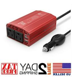Bestek 300W Power Inverter DC 12V to 110V AC with 4.2A Dual