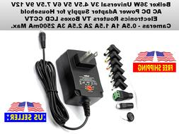 Belker 36W Universal 3V 4.5V 5V 6V 7.5V 9V 12V AC DC Power A