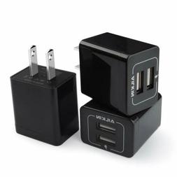3Pcs Ailkin 2.1A Dual Port USB Plug Power Adapter for iPhone