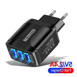 3Port Fast Quick Charge QC 3.0 USB Hub Wall Charger Power Ad