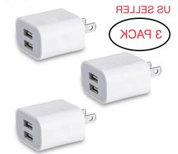 3X USB Charger Adapter Dual Double Port Power Adapter High-S