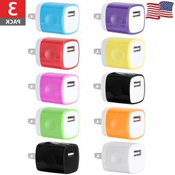 3x USB Wall Charger Power Adapter US Plug For iPhone SE 6s 7