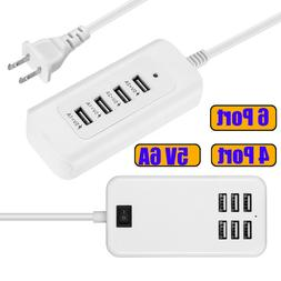 4/ 6-Port Multi Function Travel USB Charger Charging Station