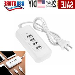 4 Multi-Port USB Desktop Charger Fast Charging Station Hub P