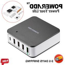 40W Multi 5 Port USB Charger Rapid Charging Station Desktop