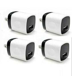4x White 1A USB Power Adapter AC Home Wall Charger US Plug F