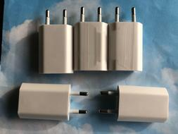 5 LOT EU Wall Charger USB Power Adapter For Apple iPhone X 8