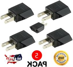5 - EU Europe Euro UK to US United States Plug in Adapter Po