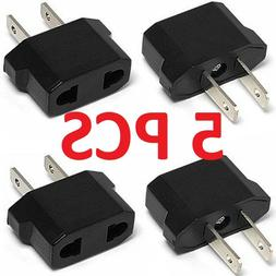 EU Euro Europe to US USA Power Jack Wall Plug Converter Tra