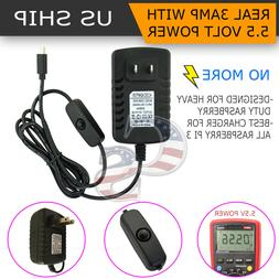5V 3A Micro USB AC Adapter DC Wall Power Supply Charger for