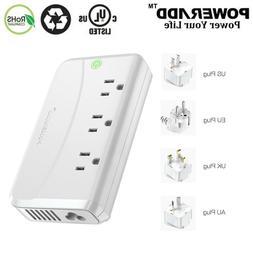 5FT 4 USB Charging Port 3 Outlet Power Strip With Lightningp