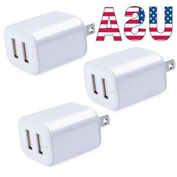 5V 2.1A USB 2Port US Plug Wall Charger Fast Charging Home Tr