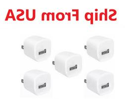 5x White 1A USB Power Adapter AC Home Wall Charger US Plug F