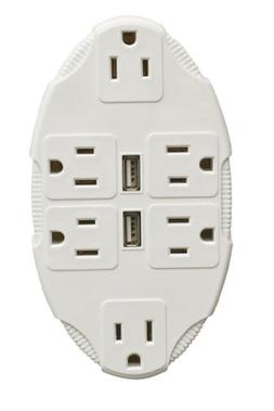 6 Outlets Multiplier + USB Ports Universal Electrical Power