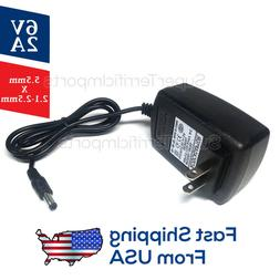 6V 2A Power Supply Adapter, Charger, AC DC Transformer 5.5mm