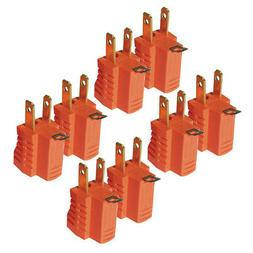 8pc 3 to 2 Prong AC Power Outlet Grounding Adapter Tap Plug