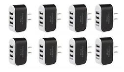 8Pcs AC Wall Outlet To USB Socket Power Adapter  -NEW