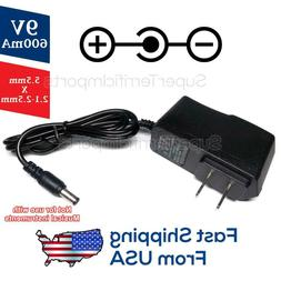 9V 0.6A Power Supply Adapter AC DC Transformer 5.5mm x 2.1-2