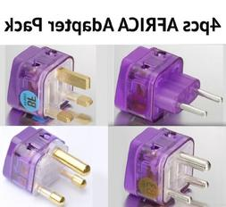 NEW! 4 Pieces HIGH QUALITY AFRICA TRAVEL ADAPTER Pack for AL
