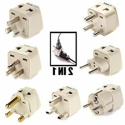 OREI 7 World Travel Adapter Plug Set Safe Grounded for Europ