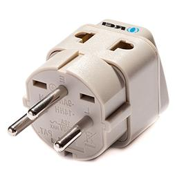 OREI Grounded Universal 2 in 1 Plug Adapter Type H for Israe