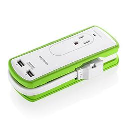 Poweradd 2-Outlet Mini Portable Travel Surge Protector with