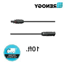 Renogy One Pair of 10Ft. 10AWG Adaptor Kit Solar Cable Wire