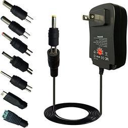 Goaycer 3V 4.5V 5V 6V 7.5V 9V 12V AC DC Power Adapter Charge