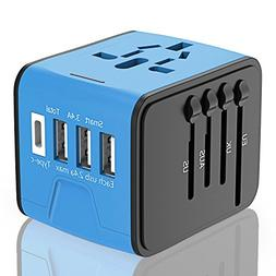 Travel Adapter, APzek International Power Adapter With High