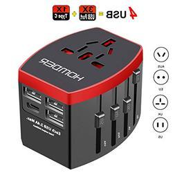 Homder Travel Adapter, International Power Adapter, All in O