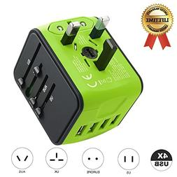 Travel Adapter JMFONE International Tavel Power Adapter 4 US