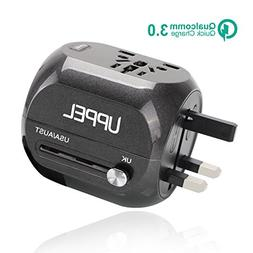 UPPEL Travel Adapter with Quick Charge 3.0 Plug Internatiol