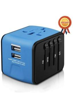 All-in-one International Power Adapter with 2.4A Dual USB, O